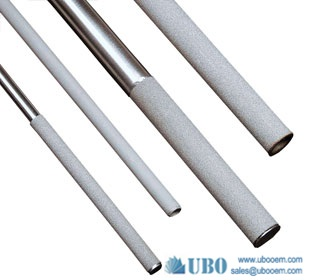 Stainless steel powder sintered filter element