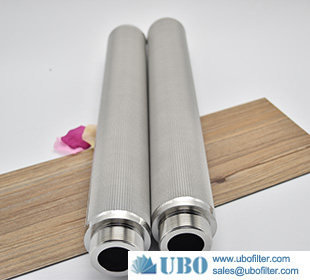 Cylindrical Stainless Steel Sintered Mesh Filter Cartridge