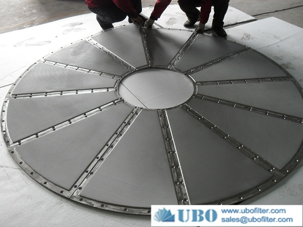 Stainless steel sintered filter disc plate