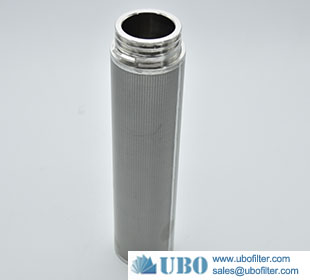 Sintered multilayer wire mesh stainless steel filter cartridge