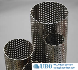 stainless steel 304 perforated metal tube filter