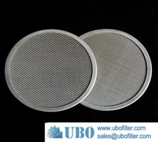 Stainless steel sintered mesh filter disc cartridges
