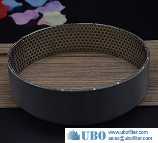 Stainless steel sintered mesh with perforated metal layer for filter