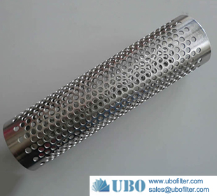 Low Carbon Stainless Steel Spiral Metal Perforated Tube