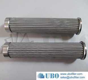 Stainless steel pleated wire mesh fuel filter oil cartridge