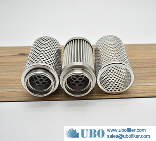 Stainless Steel 304 Perforated Sintered Metal Basket Filter for filter