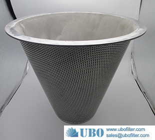 Stainless steel 304 316 Punching Cone Filter basket filter