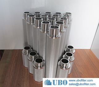 Stainless steel sintered metal mesh water filter for water element