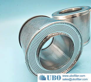 stainless steel spiral metal perforated tube for water element