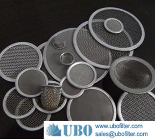 stainless steel 2um sintered metal disk filter disc
