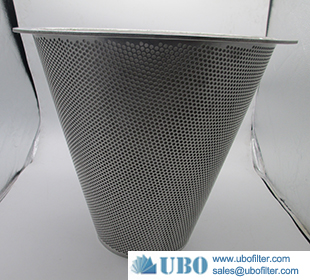 Stainless steel Cone Punching hole sintered mesh cone filter