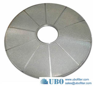 stainless steel metal leaf disk filter Plate