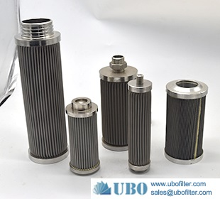 stainless steel hydraulic Pleated wire mesh water intake filter cartridge