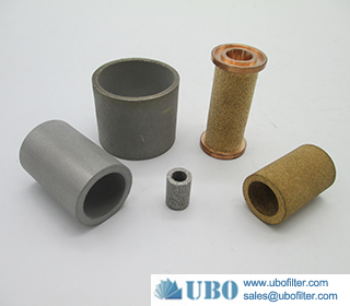 Powder sintered filter cartridges