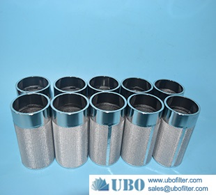 micron stainless steel sintered wire mesh filter cartridges