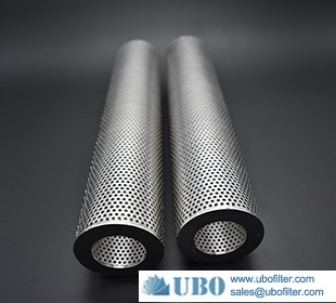 50 Micron Stainless Steel Perforated Metal Tubes Filter