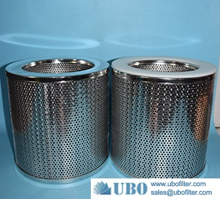 Stainless Steel Perforated Metal Welded Tubes filter