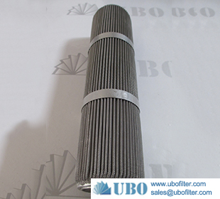 316L Stainless Steel Pleated Wire Mesh Filter Strainer
