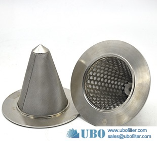 micron stainless steel cone sintered mesh filter cartridges