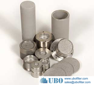 90 micron porous stainless steel 316L powder sintered filter element