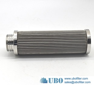 304 316 stainless steel woven mesh pleated filter cartridge for medical treatment