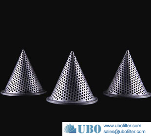 Stainless Steel Flange edge Cone shape Filters