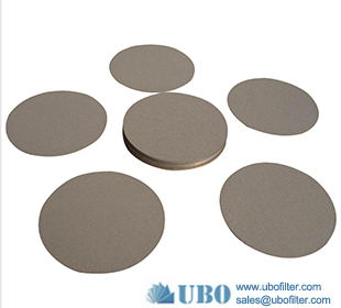 Copper powder sintered stainless steel filter disc