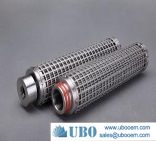 Water treatment steel filter element