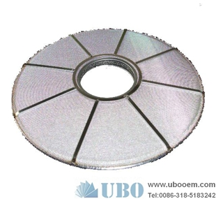 laminated stainless steel sintered round filter disk