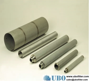 316L Brass Powder Microns Porous Tube Type Sintered Metal Filter
