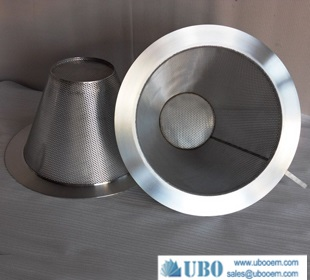 stainless steel mesh cone strainers