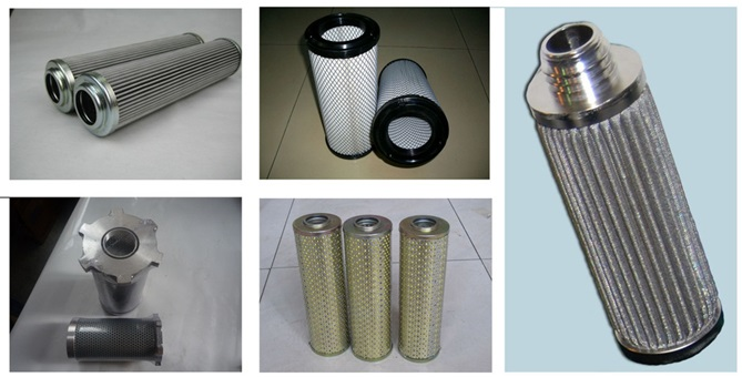 stainless steel cylinder folded filter