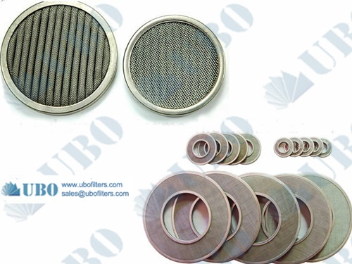 1-300 Microns Porous 304 316 Stainless steel wire sintered mesh filter disc