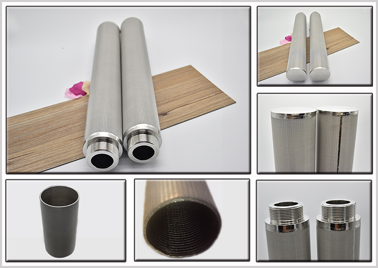 High Pressure Resistant for Stainless Steel Sintered Net Filter Cartridge